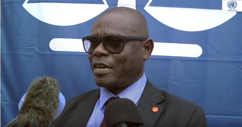 Toussaint Muntazini Mukimapa, procureur spécial de la Cour pénale spéciale en Centrafrique (capture d'écran).