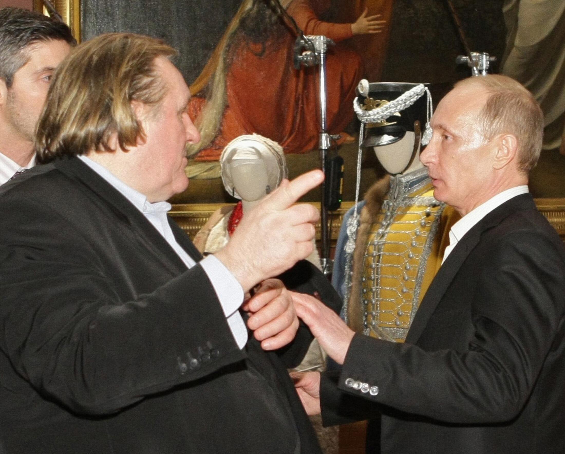 Gérard Depardieu has thanked Vladimir Putin for granting him Russian nationality