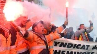 Greve dos trabalhadores ferroviários da SNCF