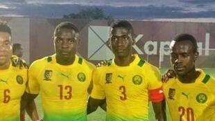 Des joueurs de l'équipe du Cameroun des moins de 23 ans.