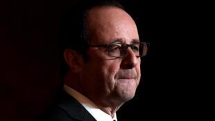 圖為法國總統奧朗德 (2016年12月2日)