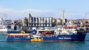 Le «Sea Watch III» dans le port de Catane, le 31 janvier 2019.