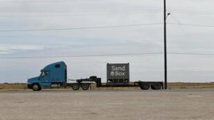 Xe tải chở cát tại bang Texas, Hoa Kỳ. Ảnh chụp ngày 13/02/2019.