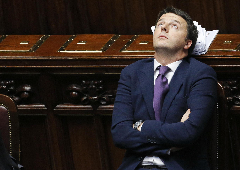 O premiê italiano Matteo Renzi