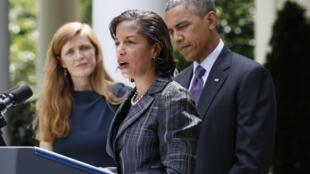 Cố vấn An ninh Quốc gia Hoa Kỳ Susan Rice (giữa), Nhà Trắng, ngày 5/6/2013.