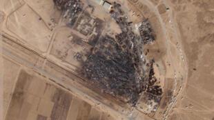 تصویر ماهوارهای «پلانت لابز اینک» اثرات آتش سوزی شدید در اسلام قلعه را که روز شنبه ۱۳ فوریه رخ داد، نشان میدهد.