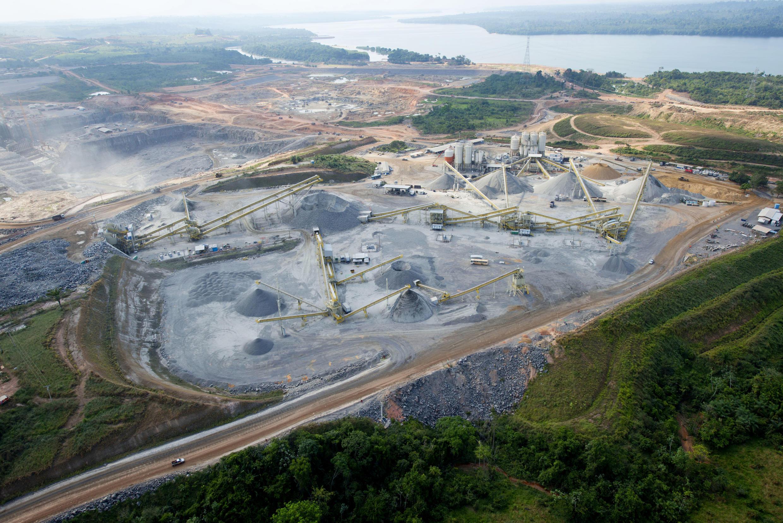 Canteiro de obras da usina de Belo Monte, em 2013