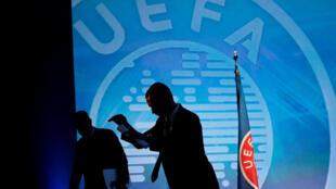 Александр Чеферин, новый президент УЕФА, впервые появился перед широкой публикой в день избрания. Афины. 14.09.2016