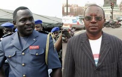 Le général John Numbi (g) et Floribert Chebeya.