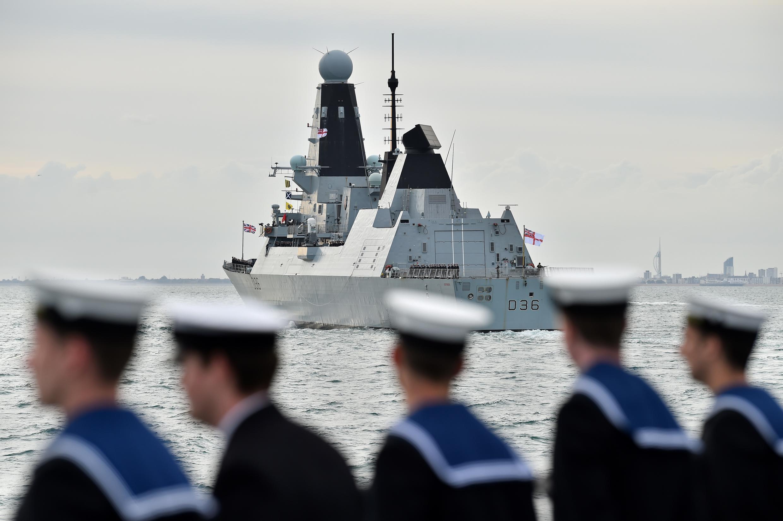 Le «HMS Defender», vu ici le long des côtes britanniques en 2019.
