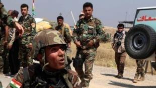 Des Peshmergas irakiens dans la région de Mossoul en mai 2016.