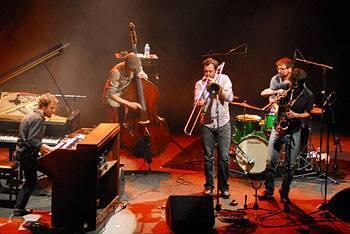 El quinteto de jazz Papanosh.