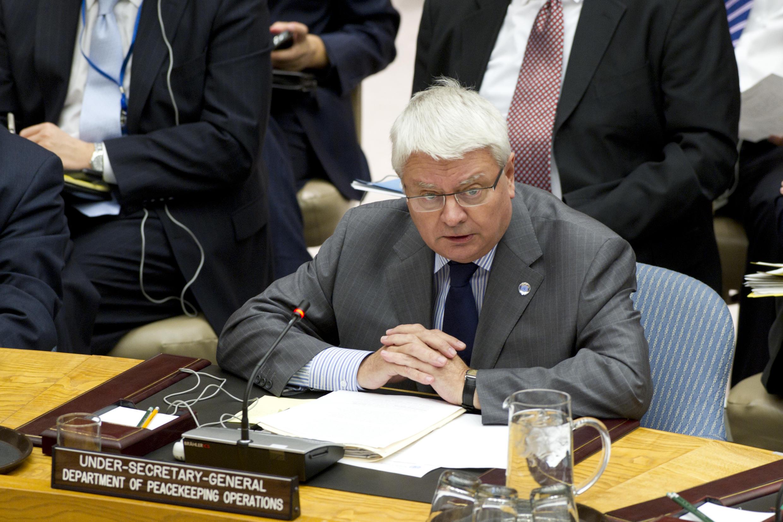 Hervé Ladsous, secrétaire général adjoint aux opérations de maintien de la paix de l'ONU.