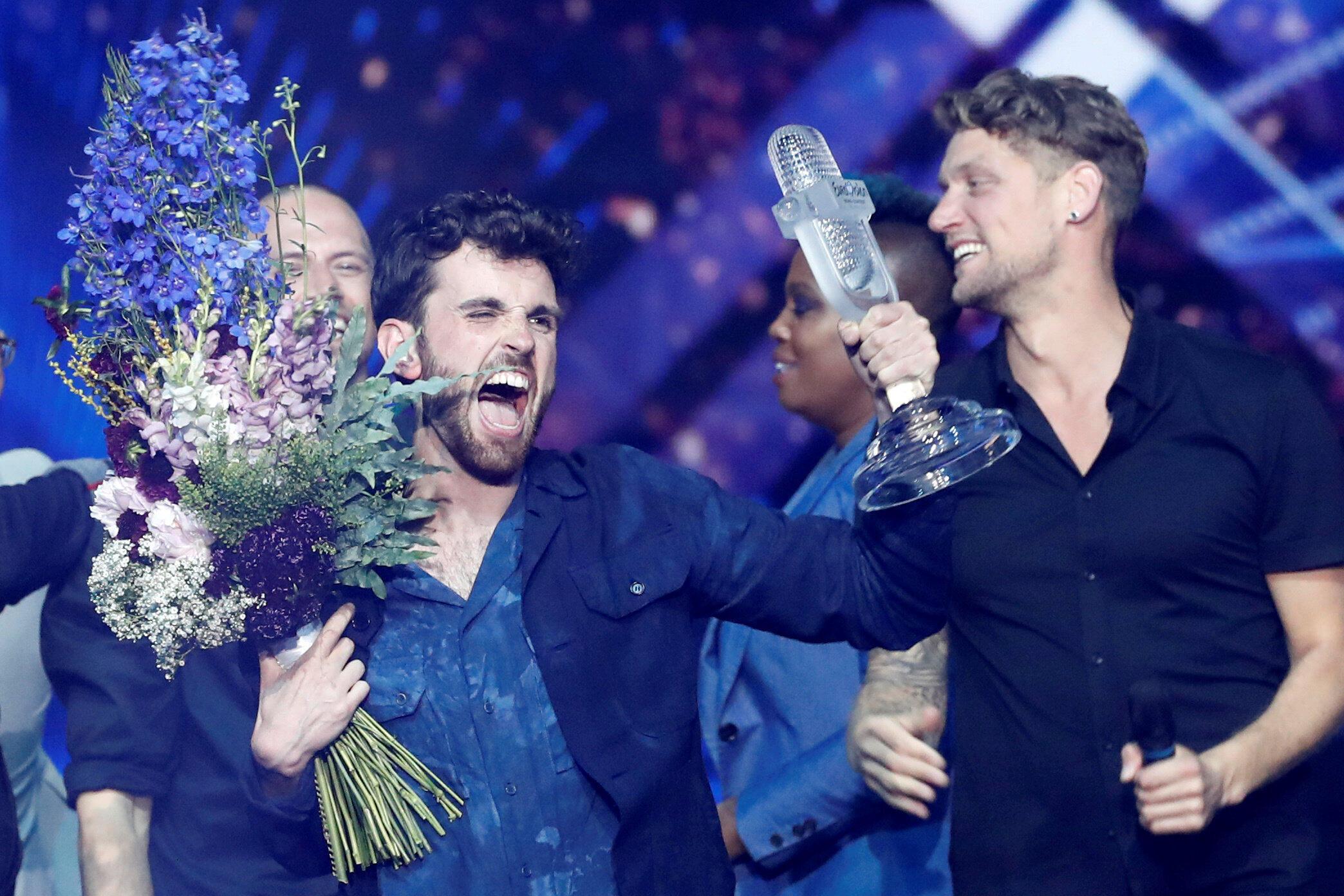 Ảnh minh họa : Ca sĩ Hà Lan Laurence Duncan thắng giải Eurovision 2019 tổ chức tại Tel Aviv, Israel.