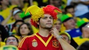 Turista estrangeiro torcendo durante jogo da Copa das Confederações, realizada de 15 a 30 de junho de 2013.