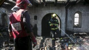 Bombeiros apagam incêndio na igreja onde Jesus fez o milagre da multiplicação dos pães.