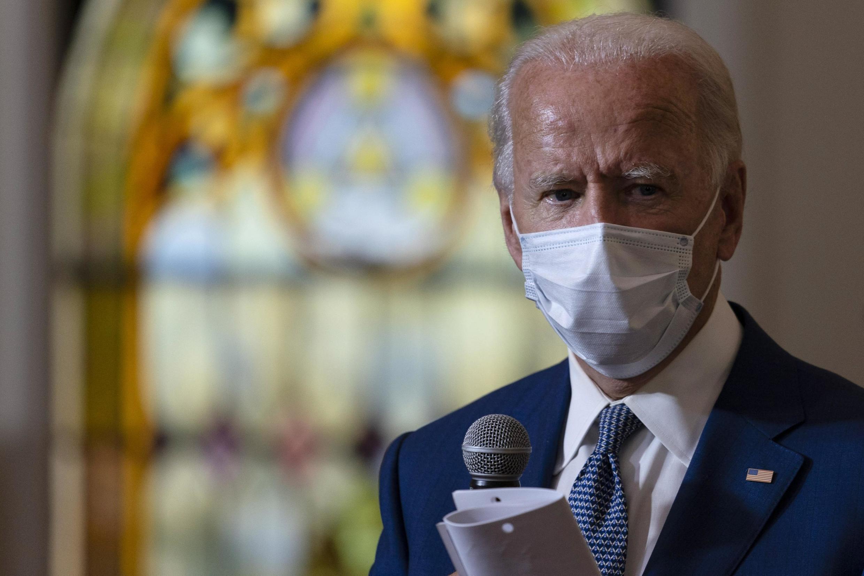 Le candidat démocrate Joe Biden, en visite à Kenosha dans le Wisconsin, le 3 septembre 2020.