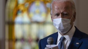 Le candidat démocrate Joe Biden, le 3 septembre 2020, en visite à Kenosha dans le Wisconsin (Image d'illustration).