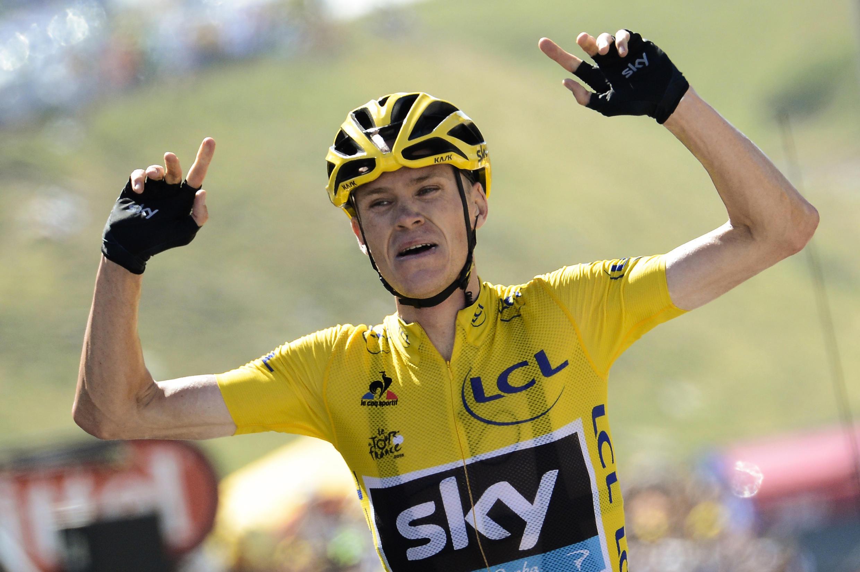 Chris Froome, le 14 juillet, à La Pierre-Saint-Martin, lors de la 10e étape du Tour de France 2015