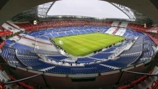 Une vue de l'intérieur du nouveau stade de l'Olympique de Lyon à Decines inauguré ce samedi 9 janvier 2016.