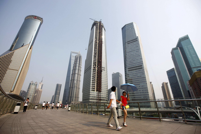 Área financeira de Lujiazui, em Xangai.