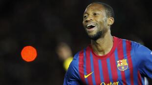 Le Malien Seydou Keita, milieu de terrain du FC Barcelone.
