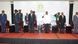 Viongozi wa Jumuiya ya Afrika Mashariki, wakikutana jijini Kampala nchini Uganda Februari 22 2018