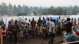 Des milliers de réfugiés, comme dans ce camps de déplacés à Bunia en Ituri le 21 juin 2019, ont fui les affrontements meurtriers dans le nord de la RDC. (image d'illustration)
