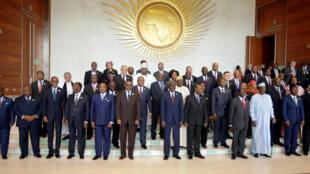 Les chefs d'Etat africains réunis lors du 29e sommet de l'UA à Addis-Abeba, Ethiopie, le 3 juillet 2017.