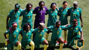 L'équipe féminine de football du Cameroun, avant le match contre les Pays-Bas, le 15 juin 2019.