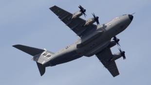 El avión de transporte militar A 400M, fabricado por Airbus.