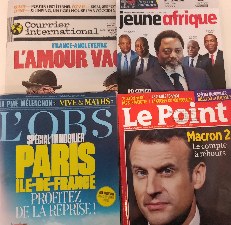 As revistas francesas desta semana.