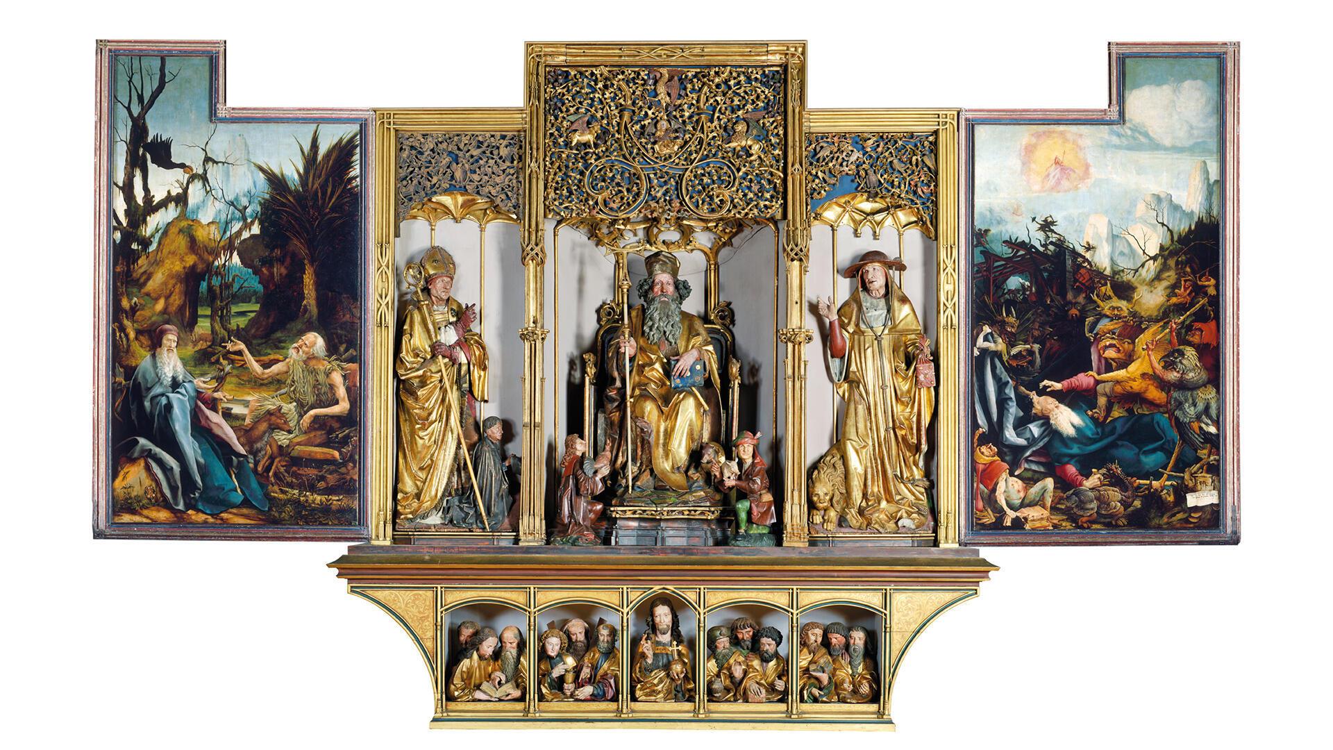 Peintures, sculptures, vernis : la restauration du retable d'Issenheim doit s'achever cette année.