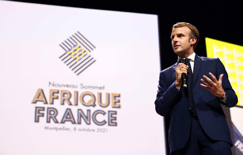 2021_10_09 macron at France Africa summit