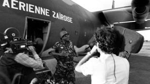rais Mobutu alipozuru huko Kolwezi le 20 Mei 1978,