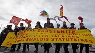 Manifestation de la Fonction publique à Marseille, le 31 janvier 2013.