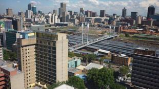 Vista geral do centro de Joanesburgo, um dos principais centros urbanos da África do Sul, em foto de dezembro de 2009.