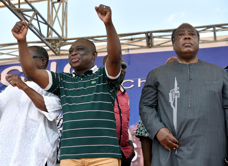 Kouadio Konan Bertin (gauche) et Charles Konan Banny (droite) font partie des quatre candidats de la CNC à la présidentielle.