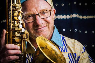 Le saxophoniste JB Moundélé pour son album «Révélation».
