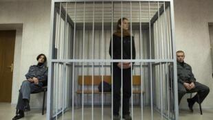 Bióloga brasileira Ana Paula Maciel, no tribunal russo de Murmansk, no domingo 29 de setembro de 2013.