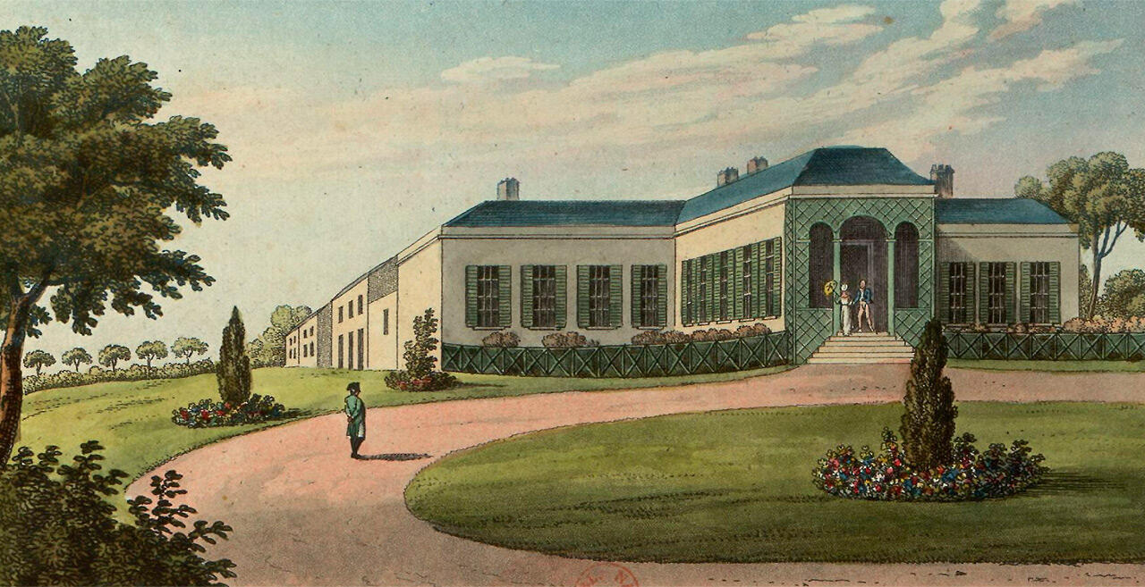 Illustration of Longwood, Napoleon Bonaparte's residence on St.Helena.