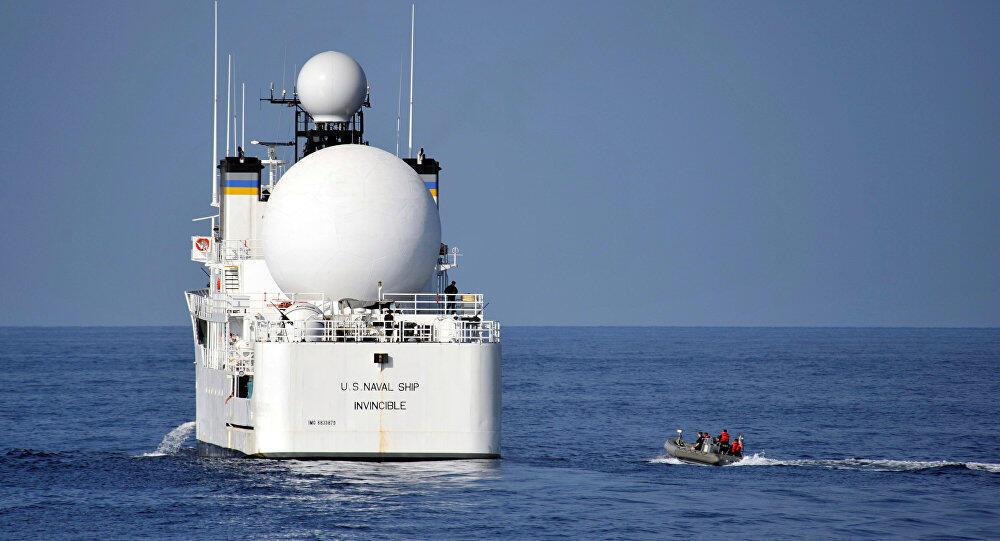 ناو آمریکایی اینوینسیبل مجهز به رادار بسیار قوی، برای ردگیری موشک های بالیستیک است