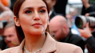 71e Festival de Cannes. Arrivée de Huma Qureshi pour la projection du 1er film français en compétition « Plaire, aimer et courir vite ». Cannes, France, 10 mai 2018