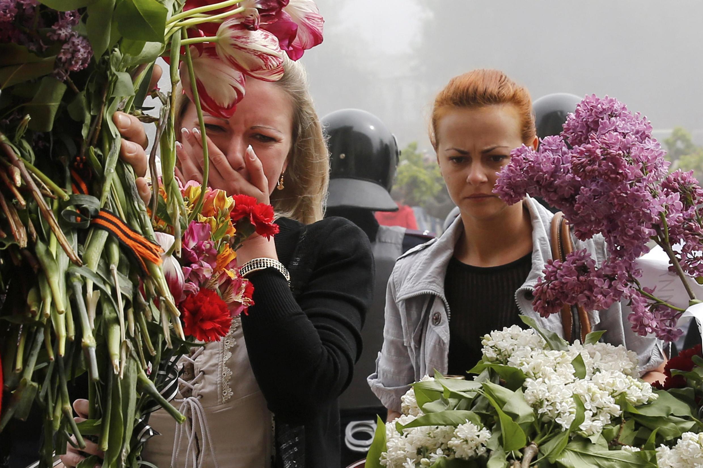 Возложение цветов в память о погибших в Одессе 2 мая 2014 года