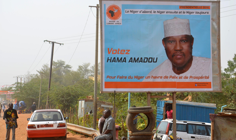 Affiche de campagne de M. Hama Amadou, Niamey, le 2 février 2016.