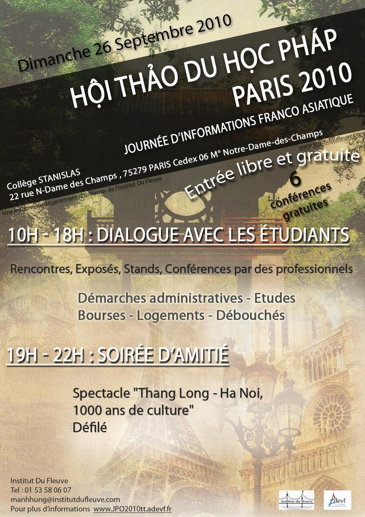Hội thảo du học Pháp ngày 26/09/2010 tại Paris