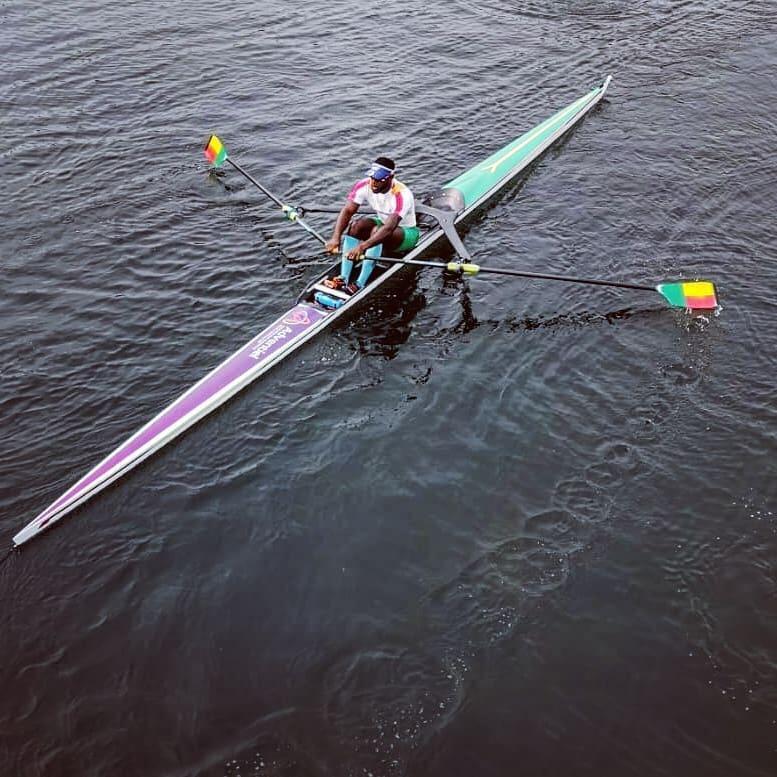 Benin Olympian Privel Hinkati in training