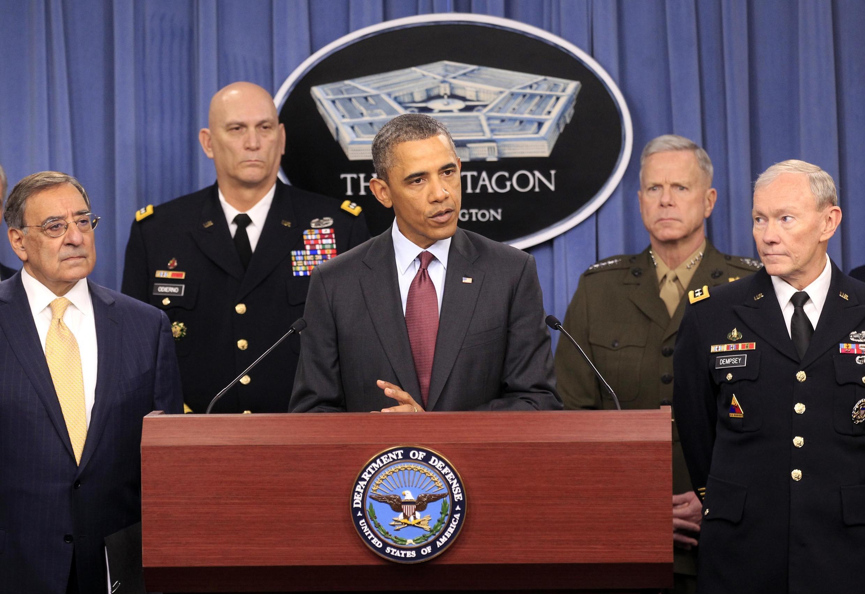 Tổng thống Obama  tại Lầu Năm Gốc ngày 05/01/2012