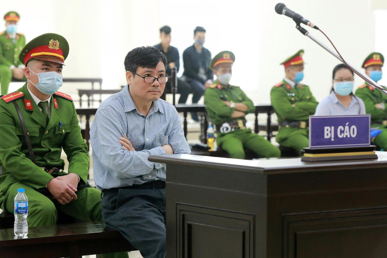 Blogger Trưưong Duy Nhất tại tòa án Hà Nội, ngày 9/03/2020.