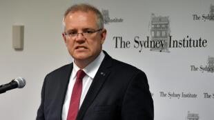 澳大利亚总理莫里森(Scott Morrison)2018年12月15日悉尼